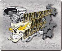 hot rod sticker skull benzin
