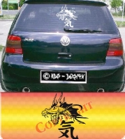 autoaufkleber cardecals tuning drache