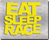 eat sleep race autosticker