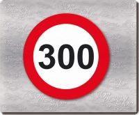tempo 300 km/h sticker
