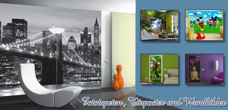 Wohnideen mit Wandtattoos und Fototapeten verwirklichen