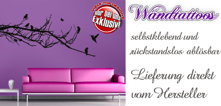 wandtattoos wandaufkleber wandtattoo wandsticker. Black Bedroom Furniture Sets. Home Design Ideas